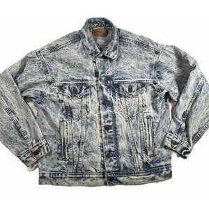 Levi's Vintage sz Med Acid Wash Classic Jean Denim Jacket 1987 Retro 80s